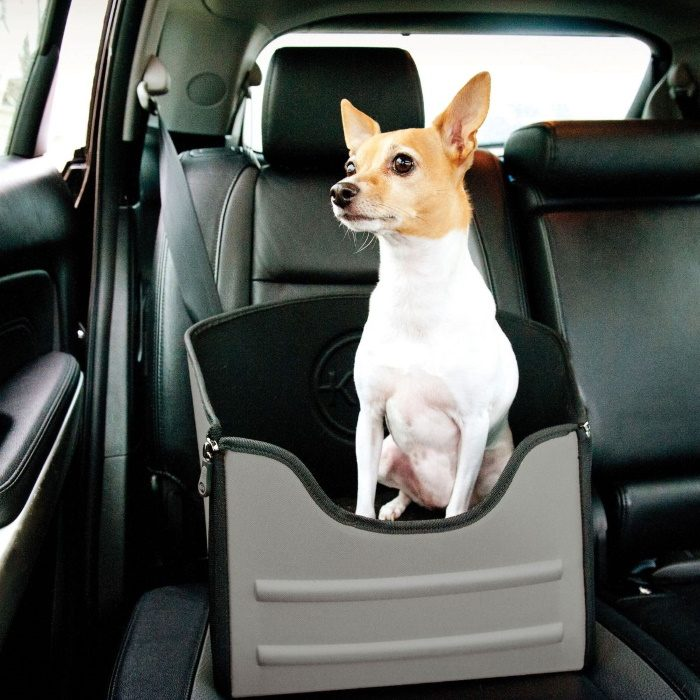 K&H Mod Car Pet Safety Booster Seat _Grey