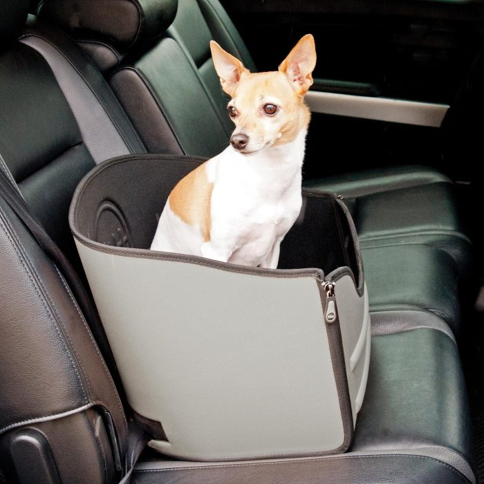 K&H Mod Pet Safety Booster Seat _Grey