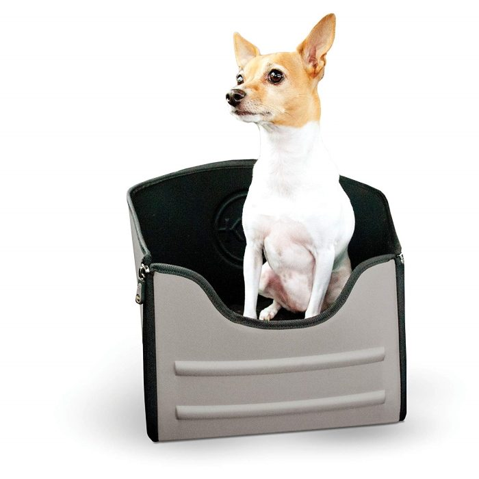 K&H Mod Pet Safety Car Seat for Dogs _Grey