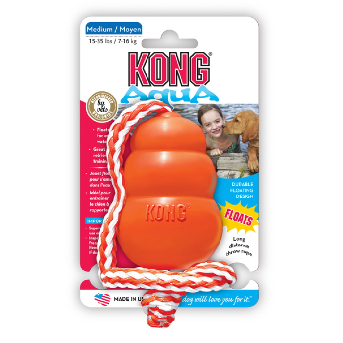 Kong Aqua Retrieval Water Dog Toy_Med