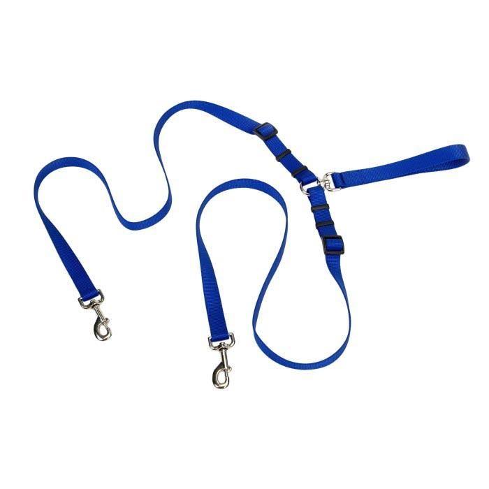 Tangle Free 2 Dog Walking Lead_ Blue