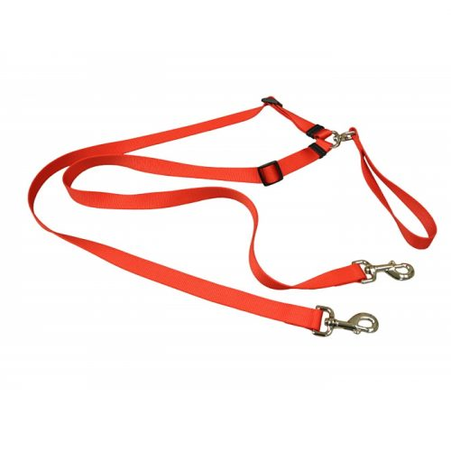 Tangle Free 2 Dog Walking Lead_ Red