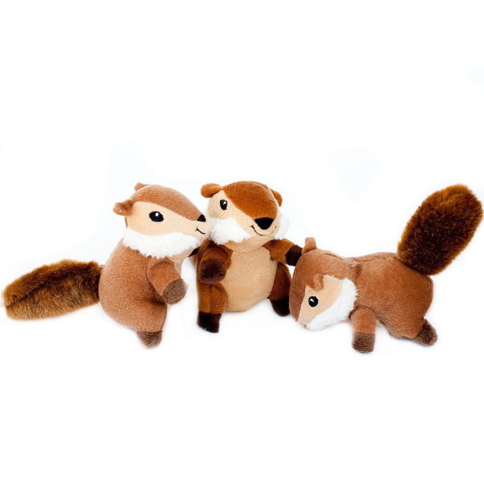 Zippy Burrow Chipmunks Interactive Dog Toy