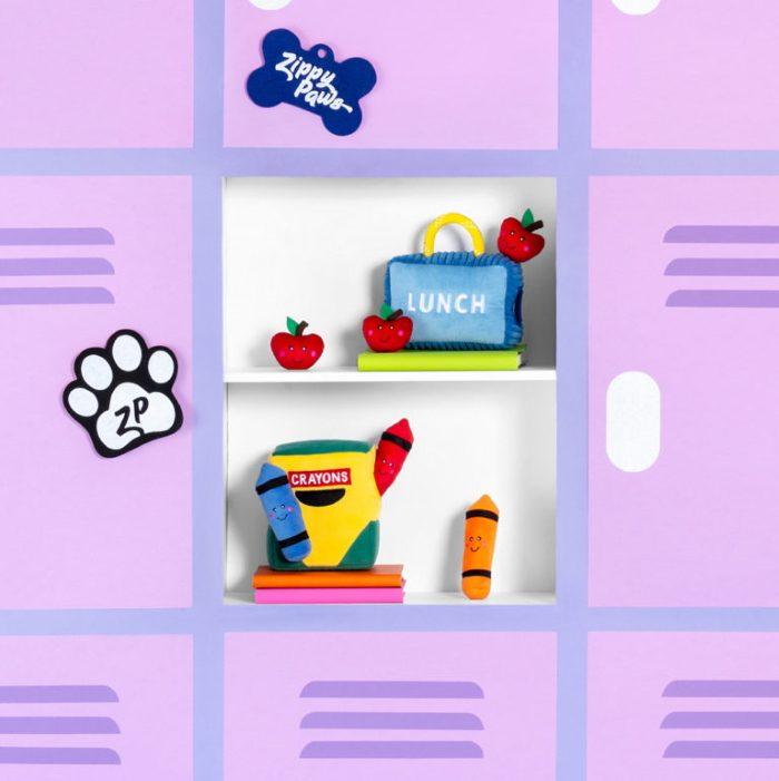 Zippy Burrow Crayon Box Dog Toy School collection