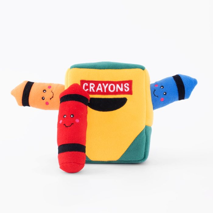 Zippy Burrow Crayon Box Interactive Dog Toy