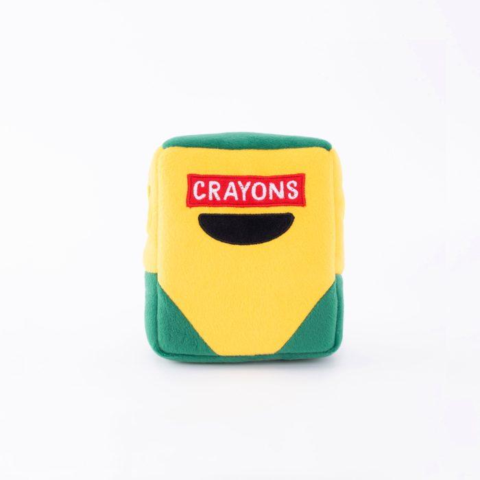 Zippy Burrow Crayon Box Interactive Dog Toy_Front