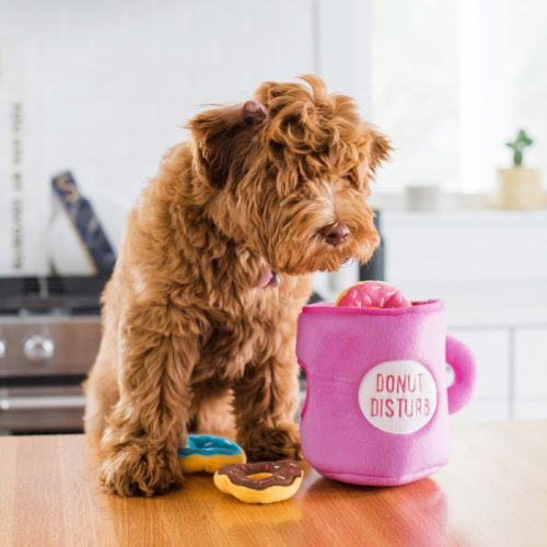 Zippy-Burrow-Donutz-with-Coffee-Interactive-Dog-Toy