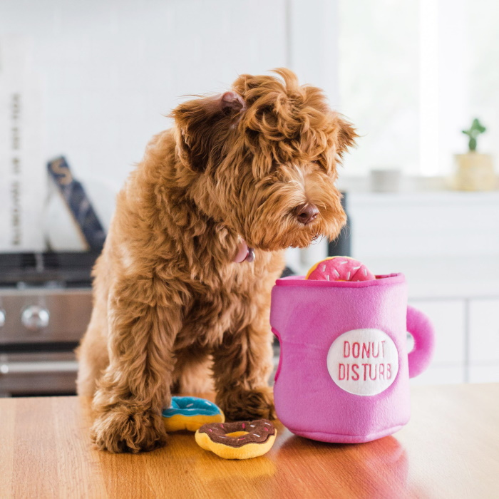 Zippy-Burrow-Donutz-with-Coffee-Interactive-Dog-Toy