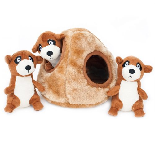Zippy Burrow Meerkat Den hide and seek dog toy