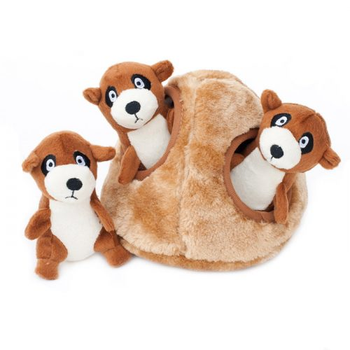 Zippy Burrow Meerkat Den interactive dog toy