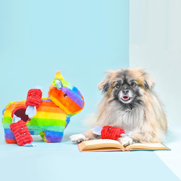 Zippy Burrow Pinata Interactive Dog Toy