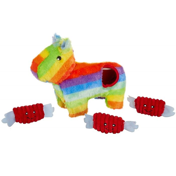 Zippy Burrow Pinata Interactive Plush Dog Toy
