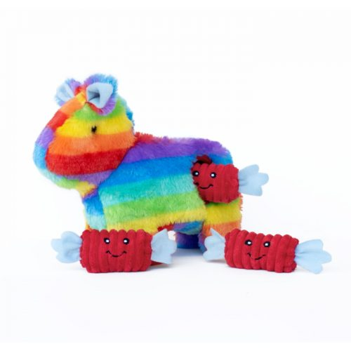 Zippy Burrow Rainbow Pinata Dog Toy