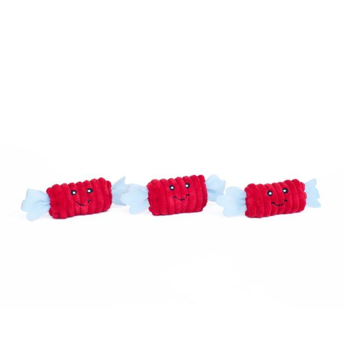Zippy Burrow Rainbow Pinata Dog Toy_3 Candy squeakers