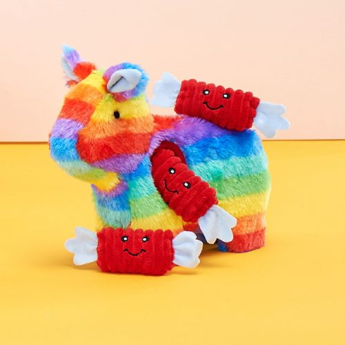 Zippy-Burrow-Rainbow-Pinata-Interactive-Dog-Toy