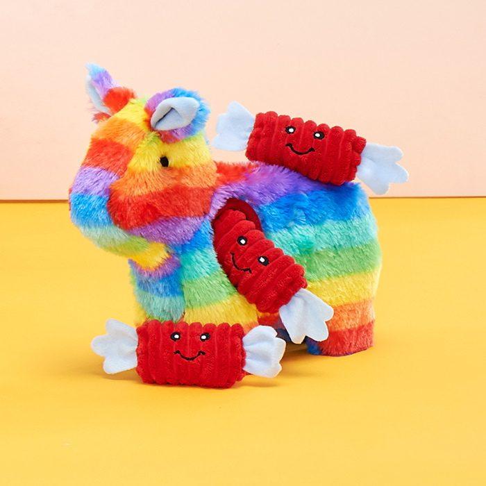 Zippy-Burrow-Rainbow-Pinata-Interactive-Dog-Toy
