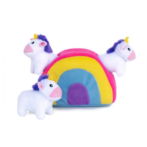 Zippy Burrow Unicorns in Rainbow Interactive Dog Toy