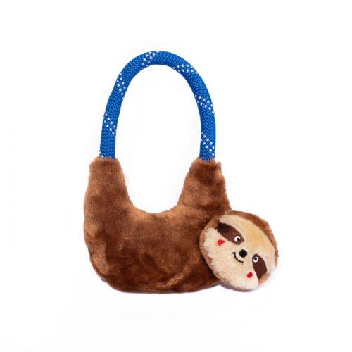 ZippyPaws RopeHangerz Sloth Plush & Rope Dog Toy