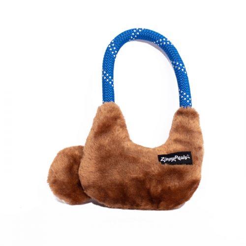 ZippyPaws RopeHangerz Sloth Plush & Rope Dog Toy_Back