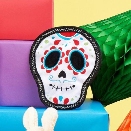 ZippyPaws Santiago the Sugar Skull Z-Stitch Dog Toy
