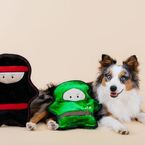 ZippyPaws Warriorz Z-Stitch Tough Plush Dog Toy
