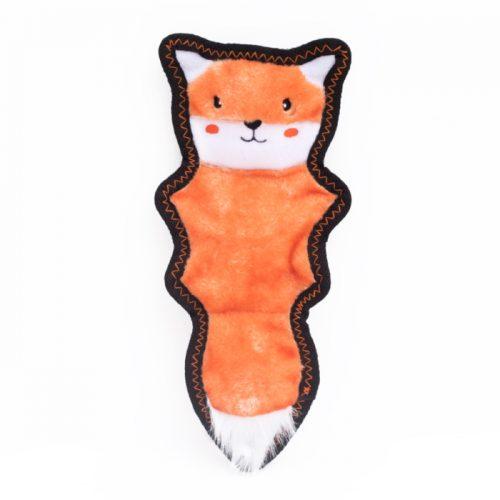 ZippyPaws Z-Stitch Skinny Peltz Fox Tough Dog Toy