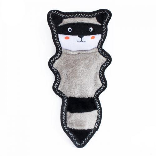 ZippyPaws Z-Stitch Skinny Peltz Raccoon Tough Dog Toy