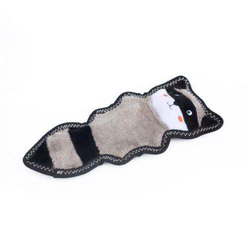 ZippyPaws Z-Stitch Tough Dog Toy Skinny Peltz Raccoon