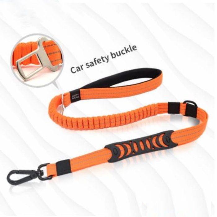 2 in 1 Dog Leash Seatbelt Connector