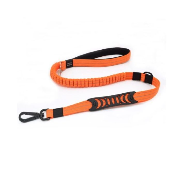 2 in 1 Dog Leash Seatbelt Connector Orange