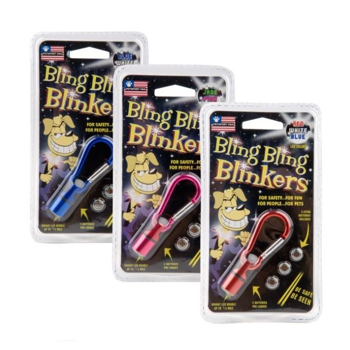 BlingBlingBlinkers Dog Collar Safety Lights