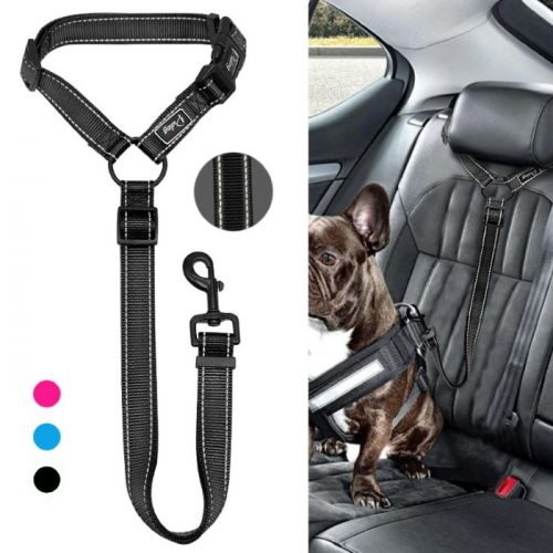 Car Headrest Restraint for Dogs Adjustable 3 colours