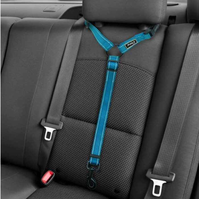 Car Headrest Restraint for Dogs Adjustable Blue