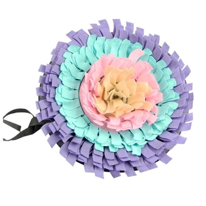 Interactive Round Snuffle Mat for Dogs_Lavender