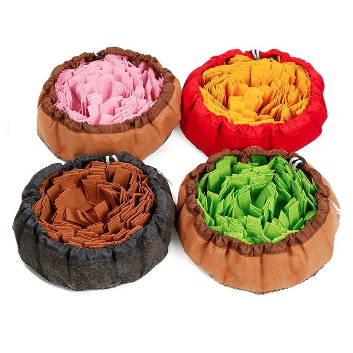 Round Cinch Top Snuffle Bowl 4 Colours