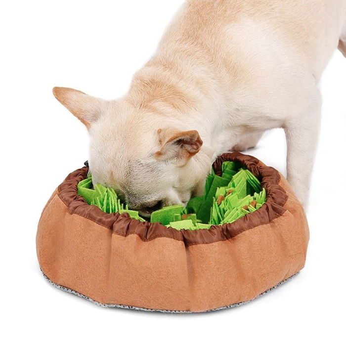 Round Cinch Top Snuffle Bowl_Green