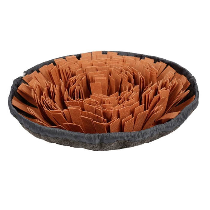 Round Cinch Top Snuffle Mat Bowl_Brown