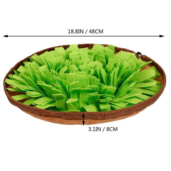 Round Cinch Top Snuffle Mat Bowl_Dimensions