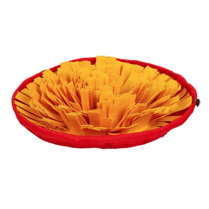 Round Cinch Top Snuffle Mat Bowl_Yellow