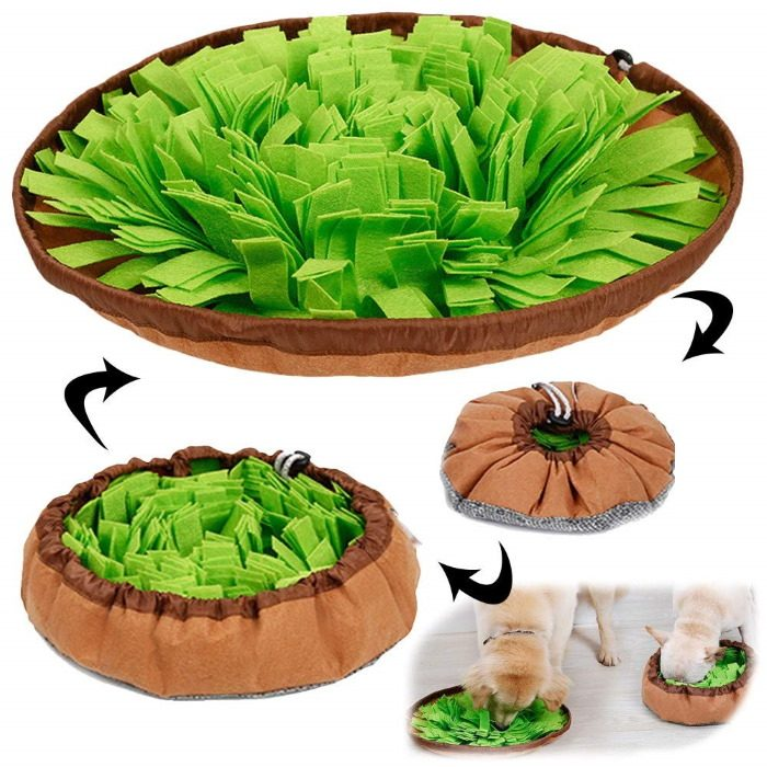Round Cinch Top Snuffle Mat and Bowl 2 in 1