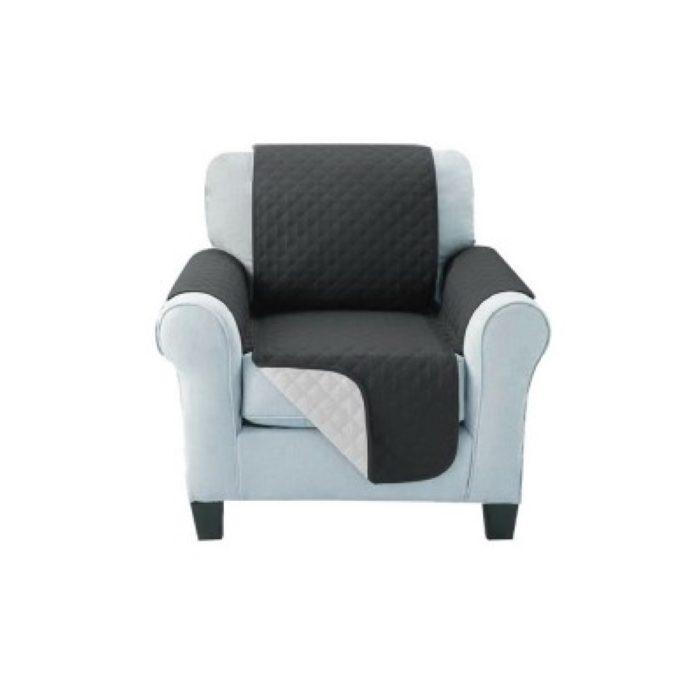 Sofa Cover One Seater Dark Grey