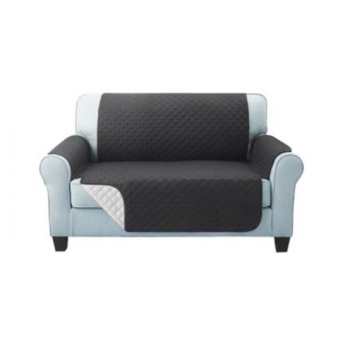 Sofa Cover Two Seater Dark Grey