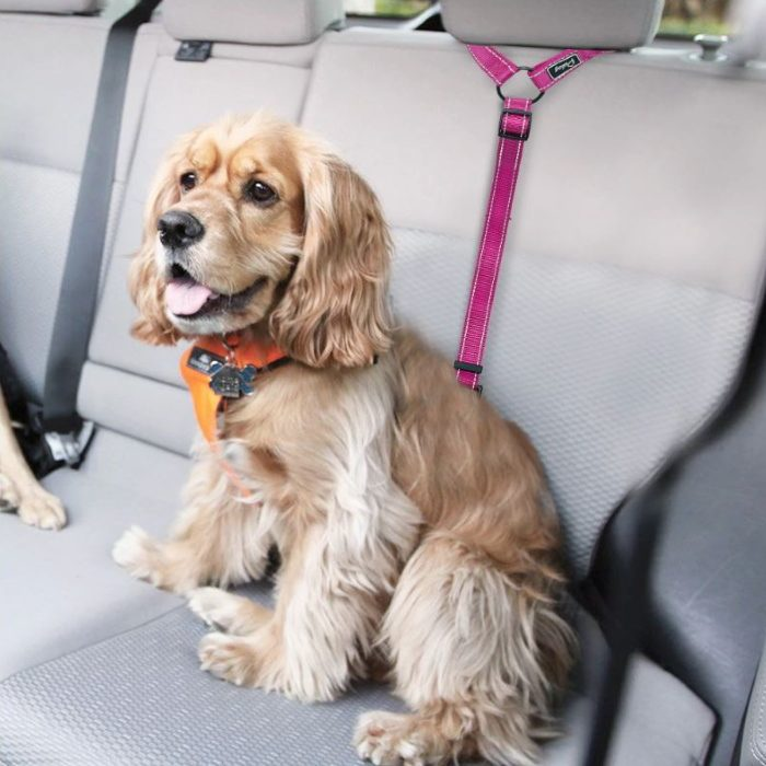 Vehicle Headrest Restraint for Dogs Adjustable