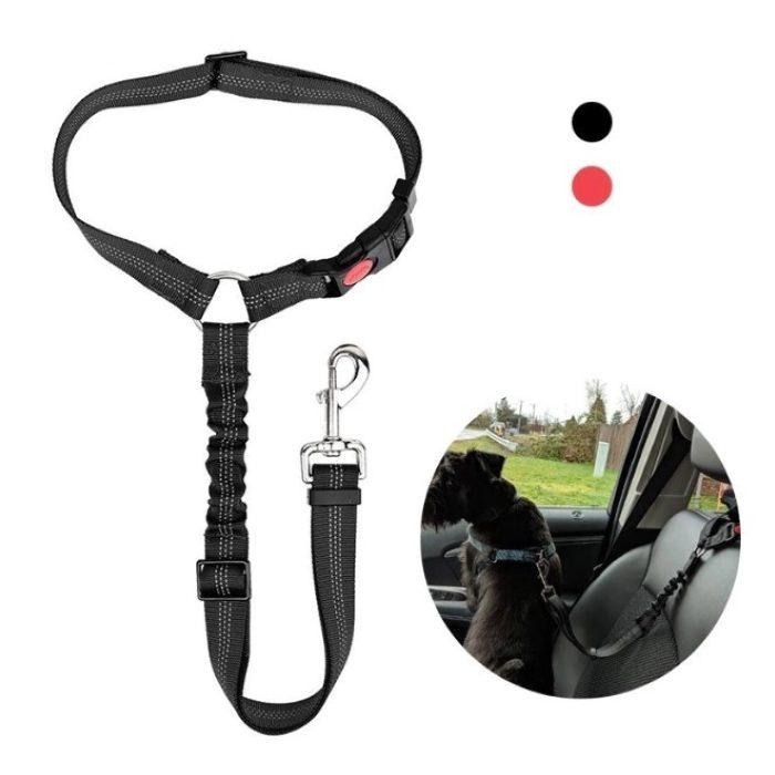 Adjustable Bungee Car Headrest restraint for dogs