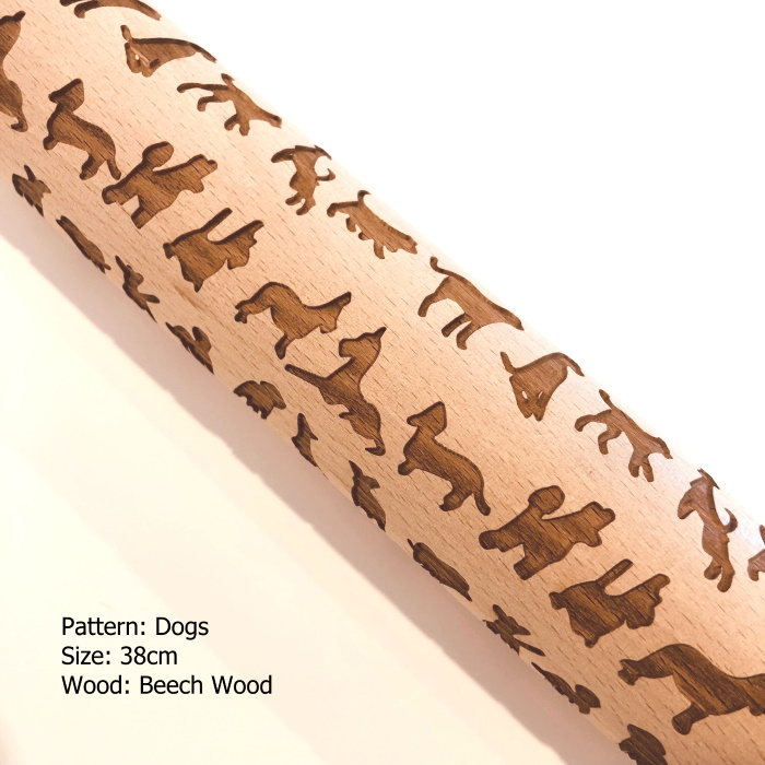 Embossed Wooden Rolling Pins_Dogs