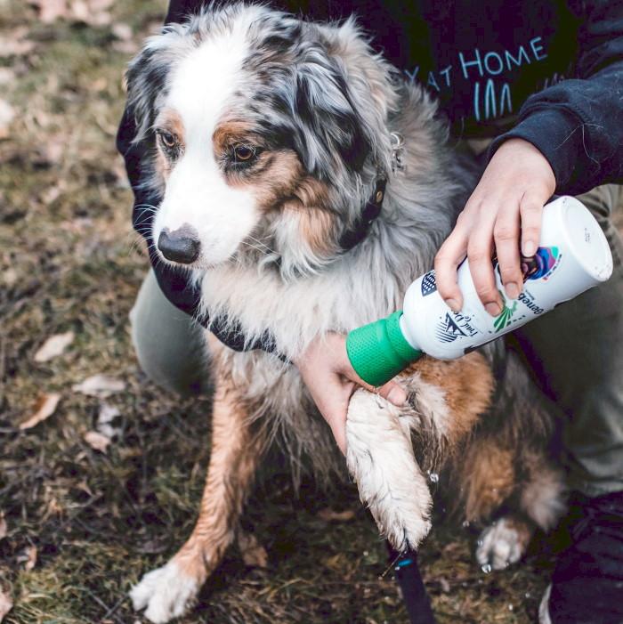 Kurgo Mud Dog Portable Travel Shower_clean feet