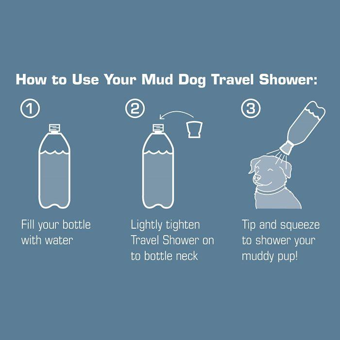 Kurgo Mud Dog Travel Shower_Directions