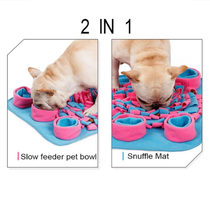2 in 1 Dog Snuffle Activity Mat Pink_Blue