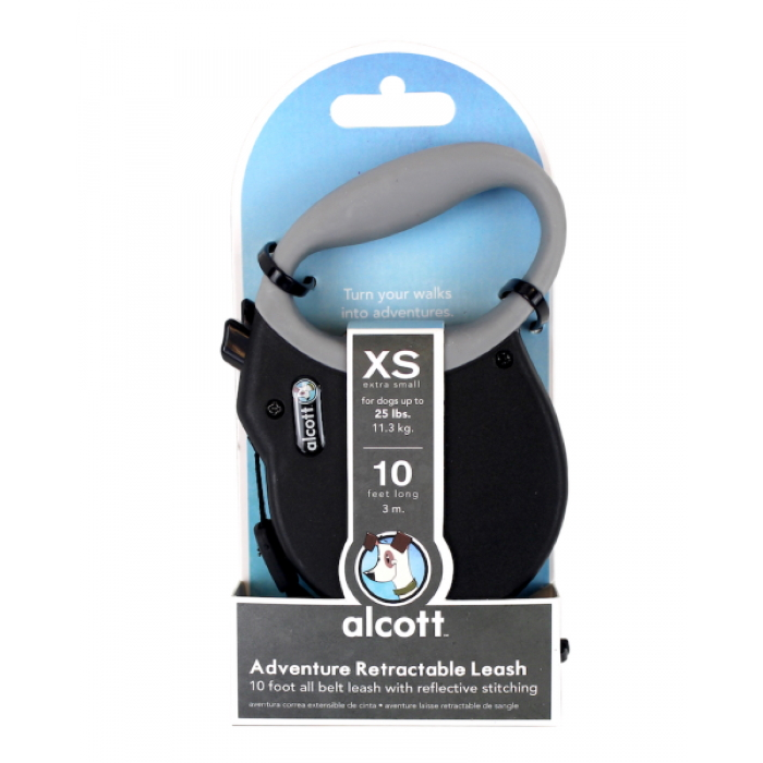 Alcott Adventure Retractable Leash XS Black 3m