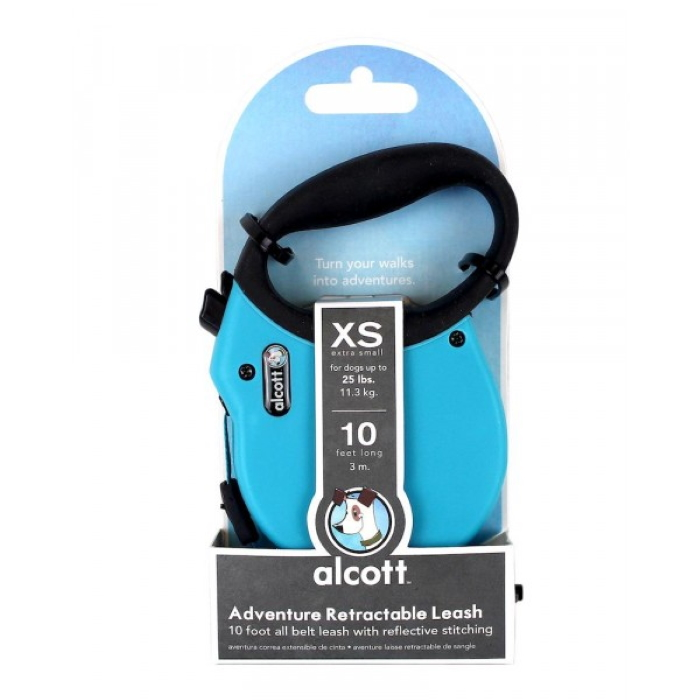Alcott Adventure Retractable Leash XS Blue 3m